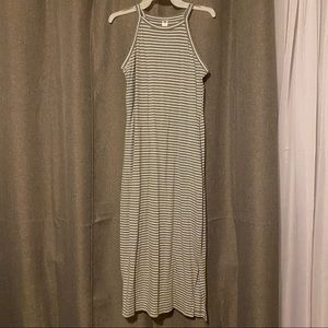 Old Navy Fitted High Neck Midi Dress
